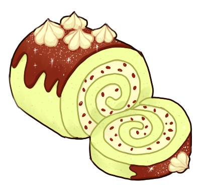Cake Roll Art : Swiss Roll Icon by onisuu on DeviantArt