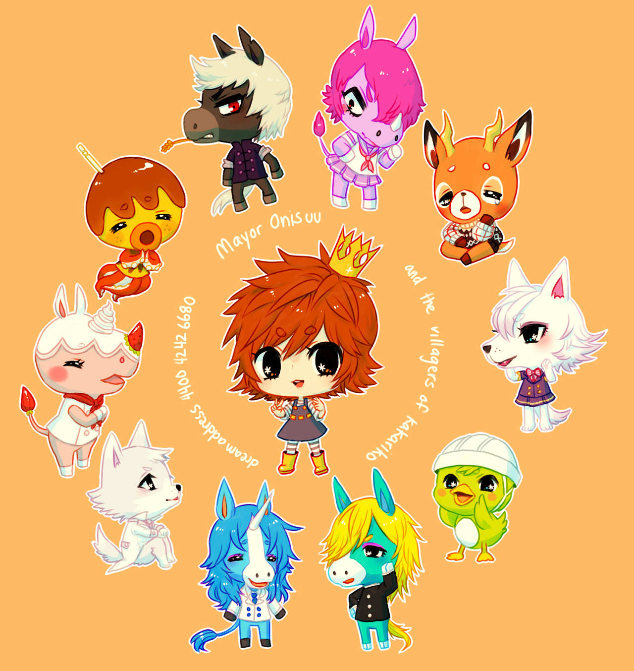 ACNL -- ALL RESIDENTS (+speedpaint) by onisuu
