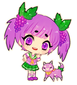 fanart -- Grape-chan by onisuu