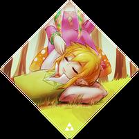 loz -- link and zelda by onisuu
