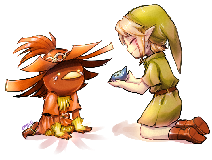 majora's mask -- Skullkid And Link