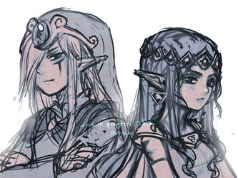 loz -- vaati and hilda WIP