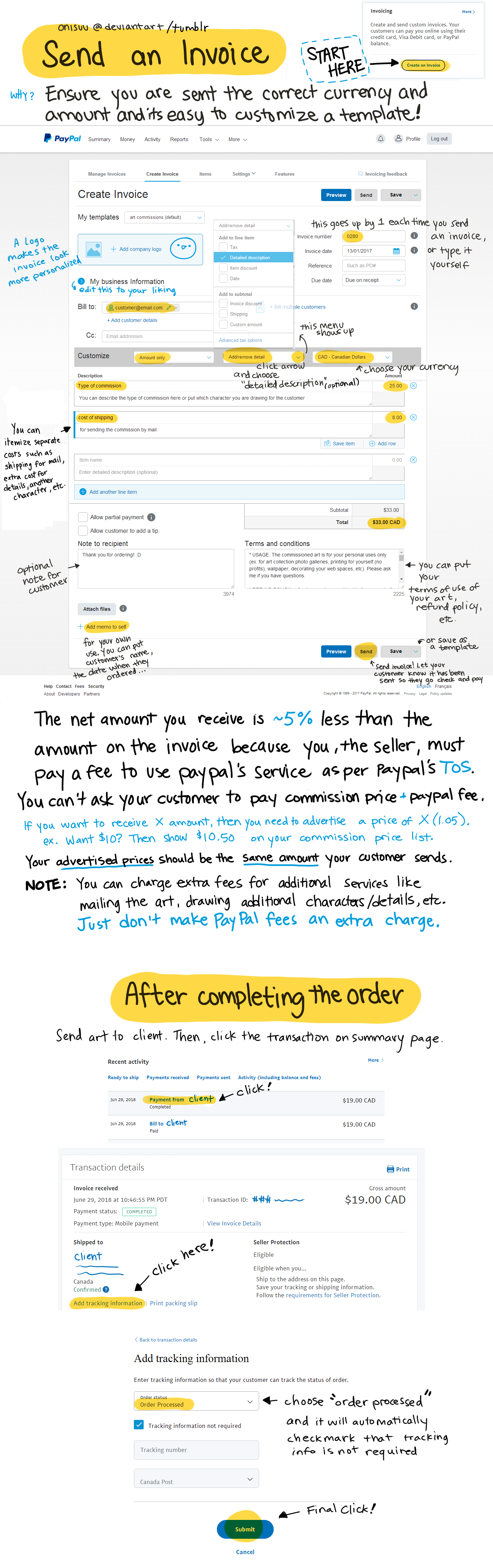 Invoice Guide For PayPal By Onisuu On DeviantArt - How to create an invoice on paypal for service business