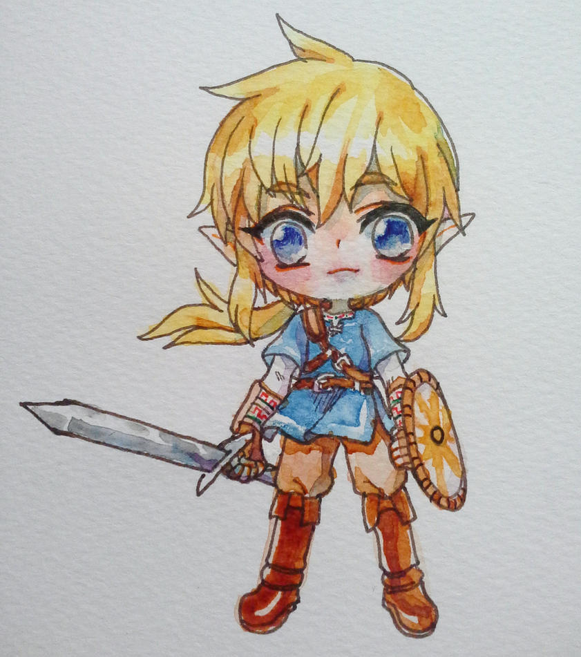 Link Chibi (watercolour) By Onisuu On DeviantArt