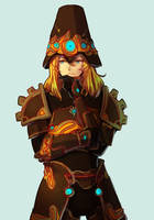 botw -- ancient armor link by onisuu