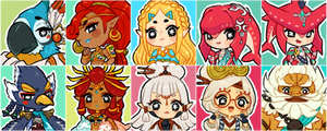 breath of the wild icons by onisuu