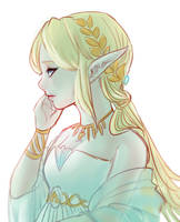 botw -- Zelda with the circlet by onisuu