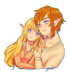 skyward sword -- zelink by onisuu