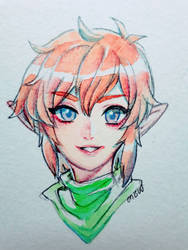 Loz -- watercolour link by onisuu