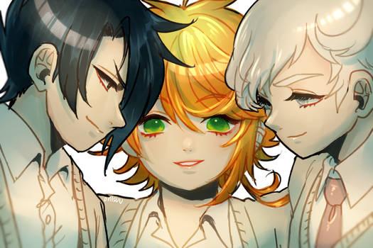 the promised neverland -- trio