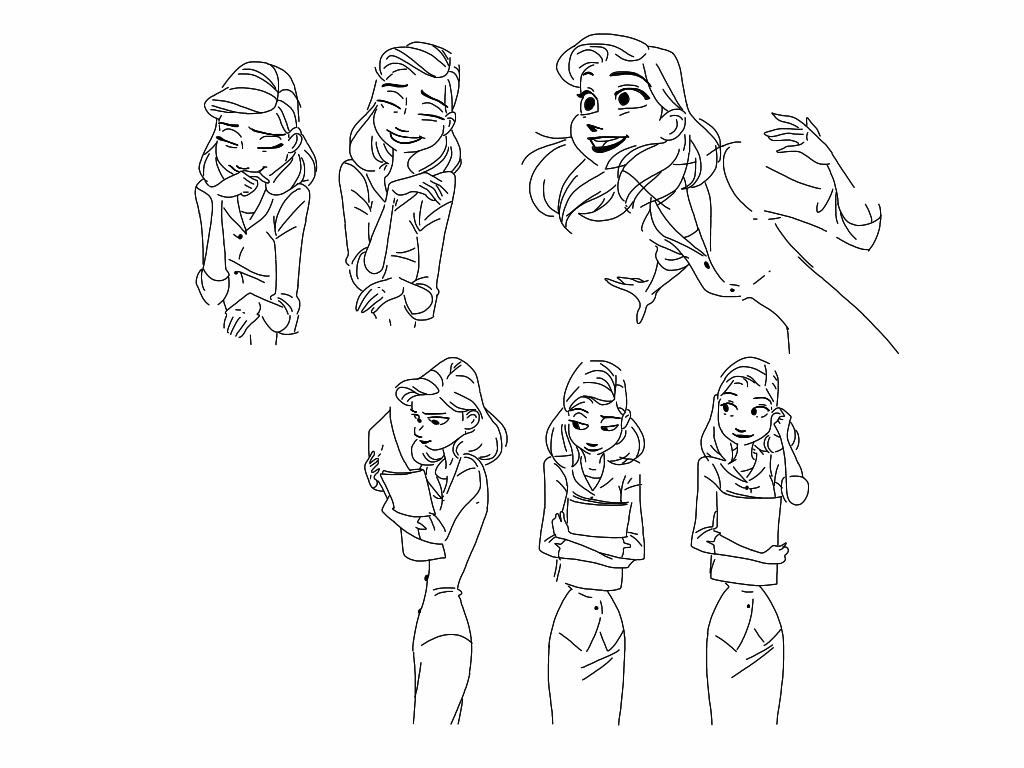 Paperman: Meg poses #2 by Spartandragon12