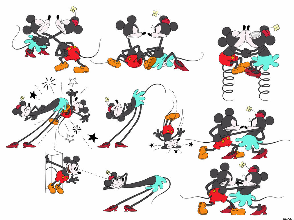 Minnie And Mickey Tumblr Drawing