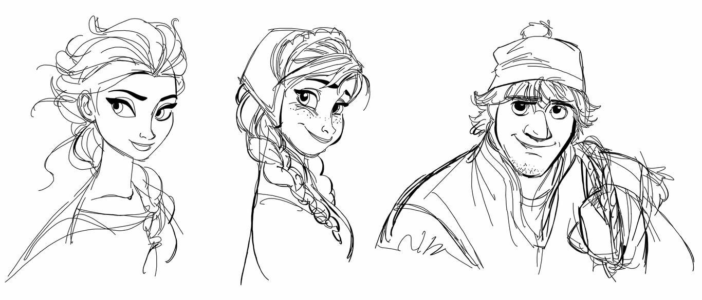 drawing elsa anna and kristoff by spartandragon12 on deviantart