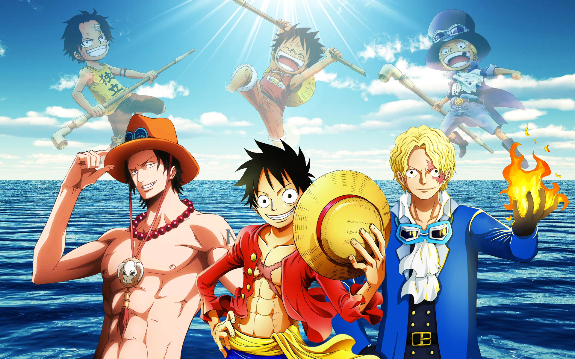 Portgas D. Ace, Monkey D. Luffy and Sabo 2 years by Spartandragon12 on ...