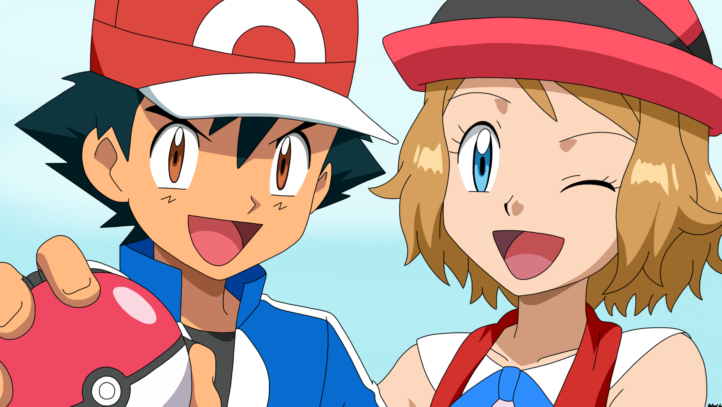 Pokemon Ash And Serena Images