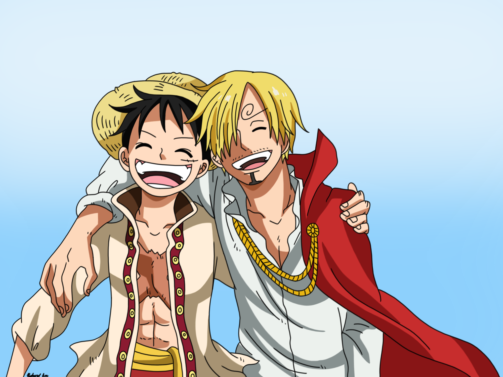 Best Friends Monkey D Luffy And Sanji By Spartandragon12