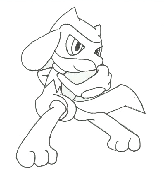 Pokemon riolu coloring pages