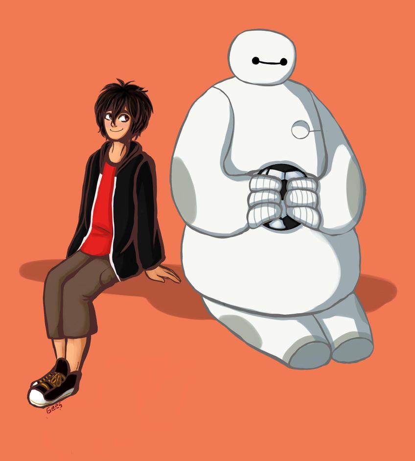 Hiro and Baymax by Discord888