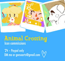 Animal Crossing Icon Commissions!