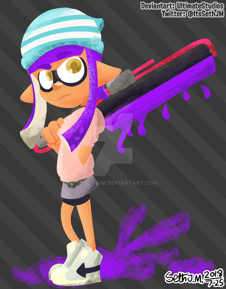 Amara Hikari [Splatoon Brush Test] by UltimateStudios