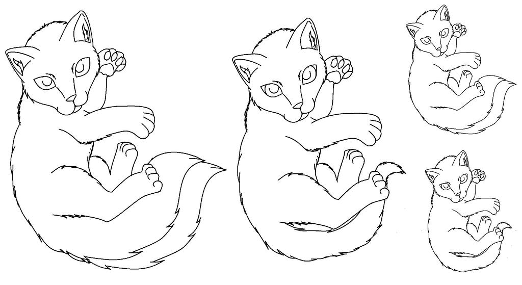 Kitten lineart by Kitrei-Sirto