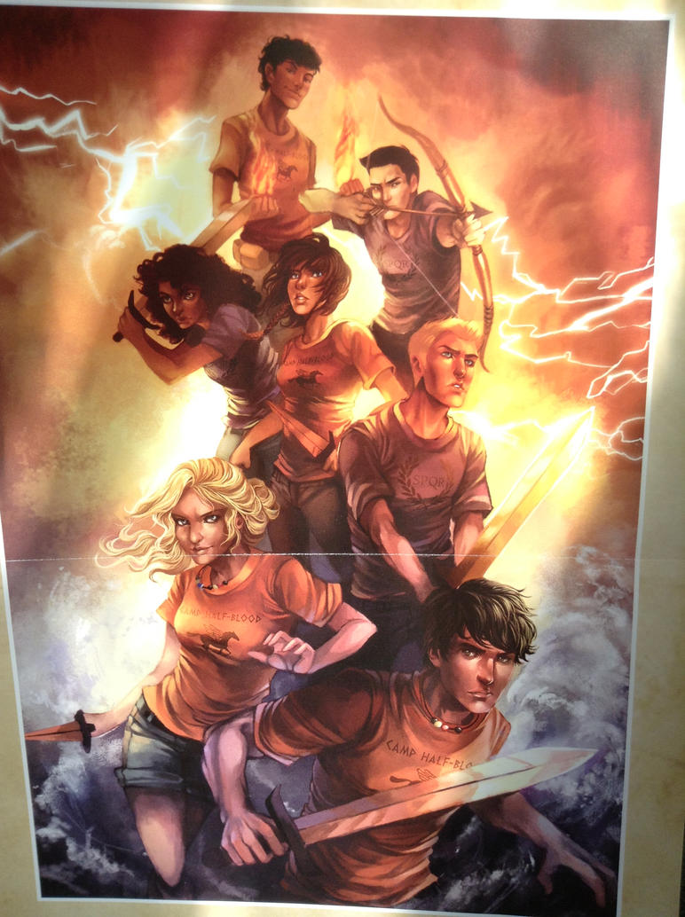Heroes of  Olympus mini poster by Kitrei-Sirto