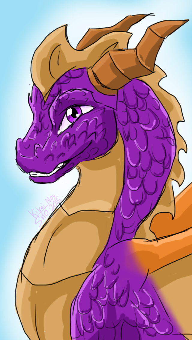 Somewhat Realistic Spyro  by Kitrei-Sirto