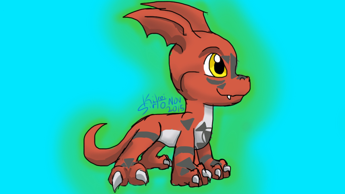 Guilmon by Kitrei-Sirto