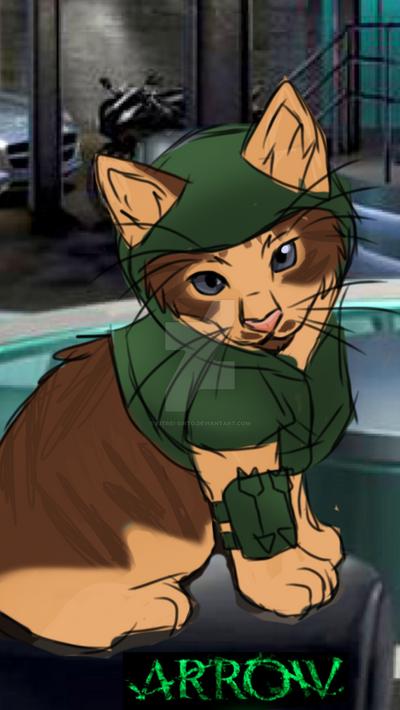 arrow kitty  by Kitrei-Sirto