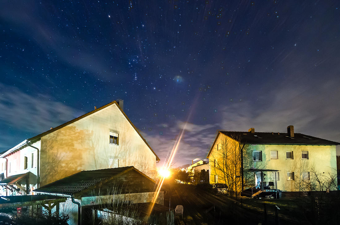 Orion over Row Houses by StefanEffenhauser