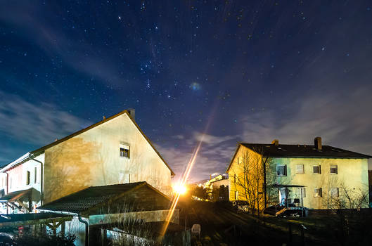 Orion over Row Houses