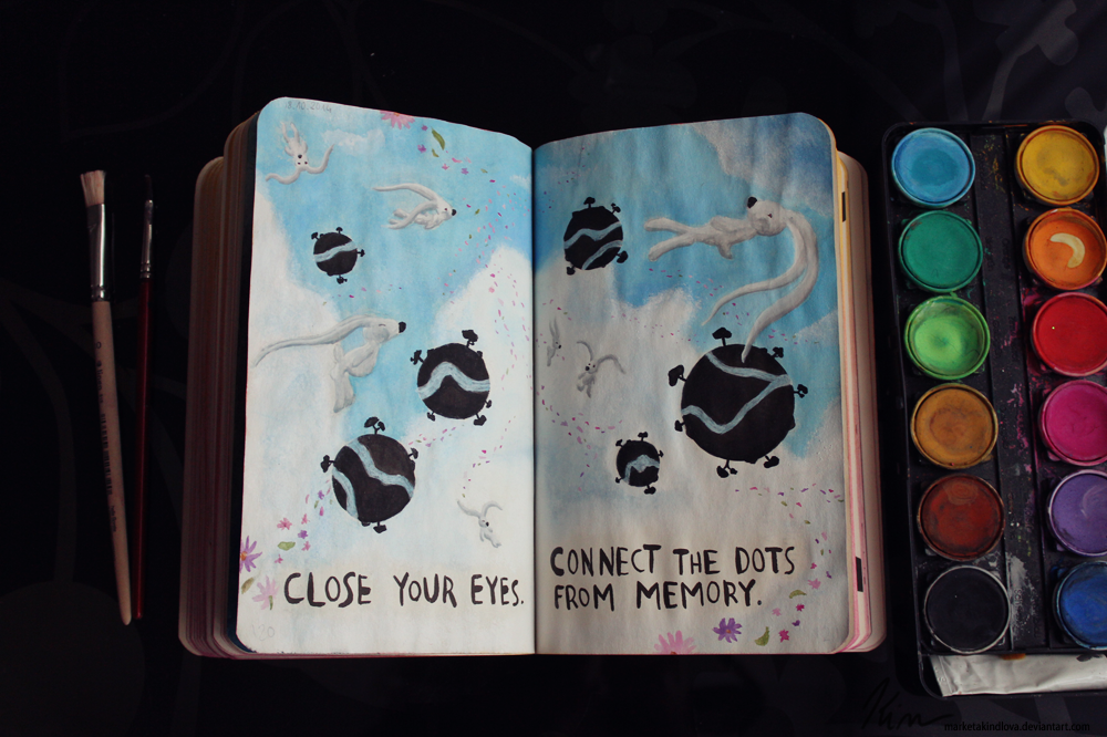 wreck this journal page 120 121 by marketakindlova on