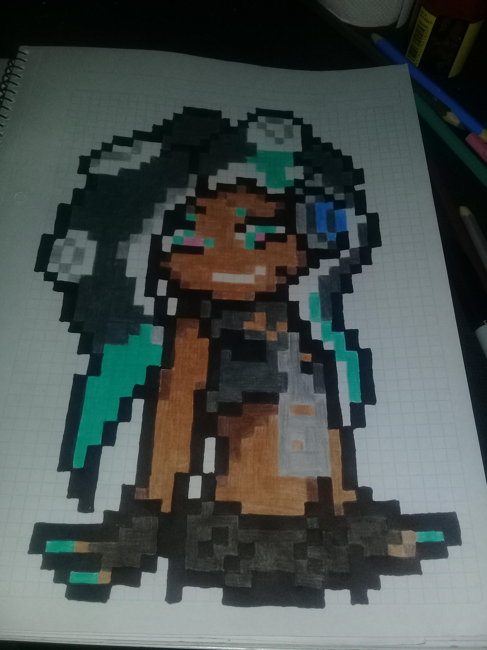 Pixel Art Marina Splatoon 2 By Ferminbackstap On Deviantart