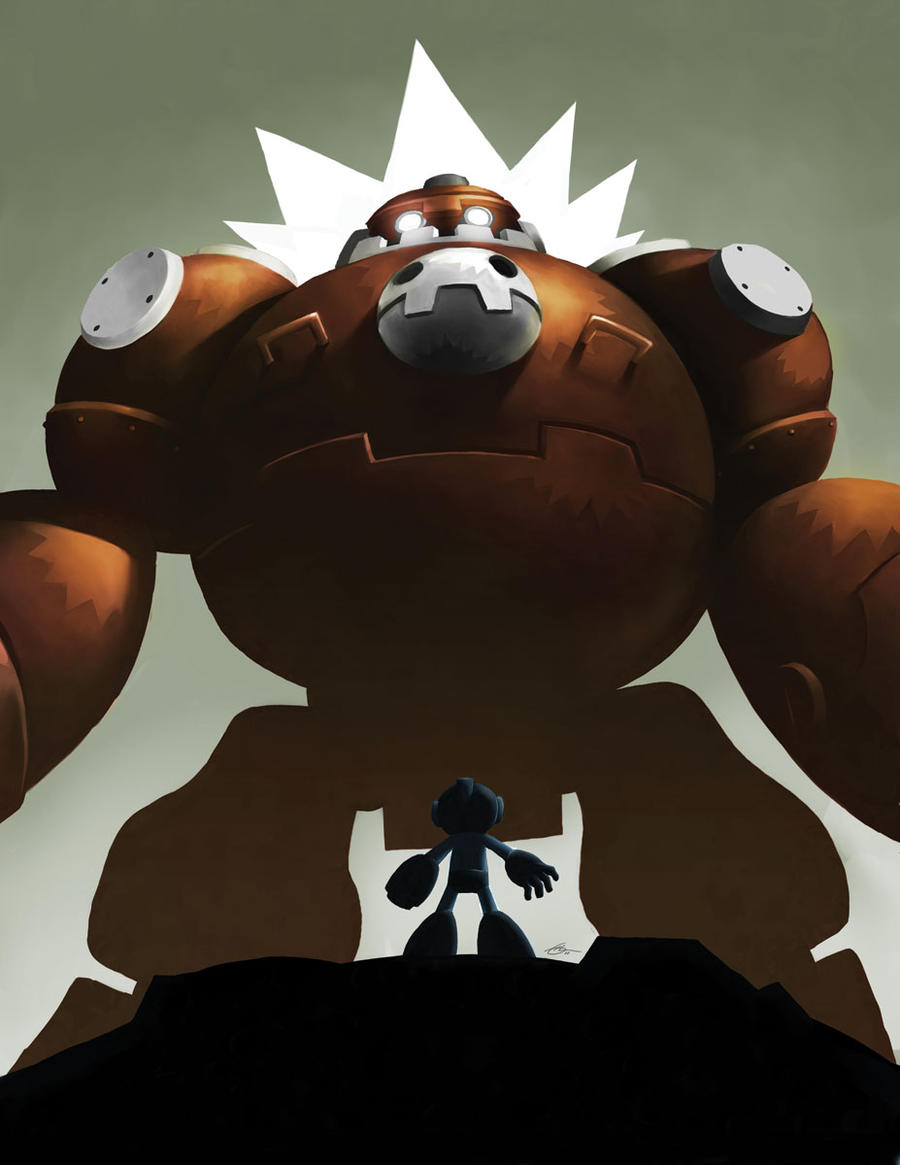 Little Megaman by m-U-n-s-t-e-r