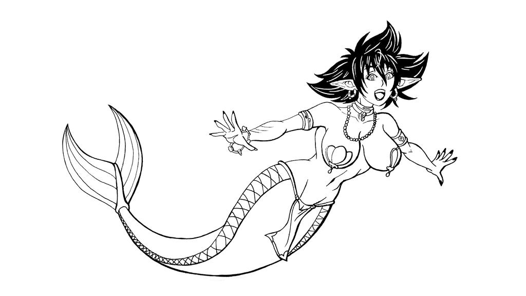 Mareena the Mermaid by pedrocorreia