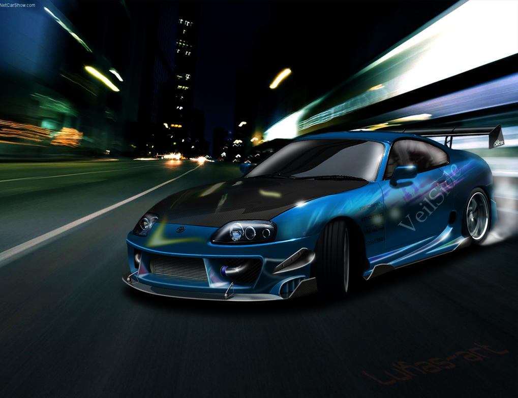 Toyota Supra Drifting By Lukas Art