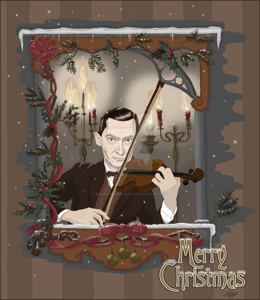 GALERIE GOODIES - Page 8 Sherlock_holmes___violinist_on_christmas_day_by_mrshorowietzky-d5o51w9