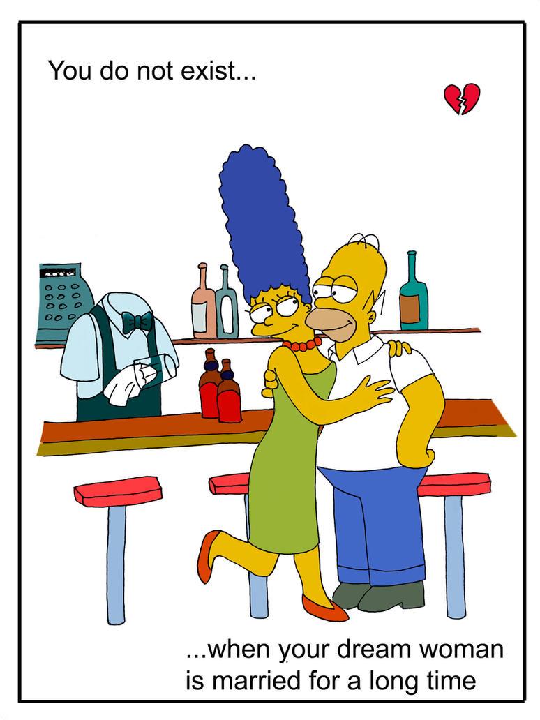 Moe Szyslak, Marge and Homer Simpson by marla666