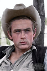 James Dean in promo for Giant 1955 by xxwildestheartxx