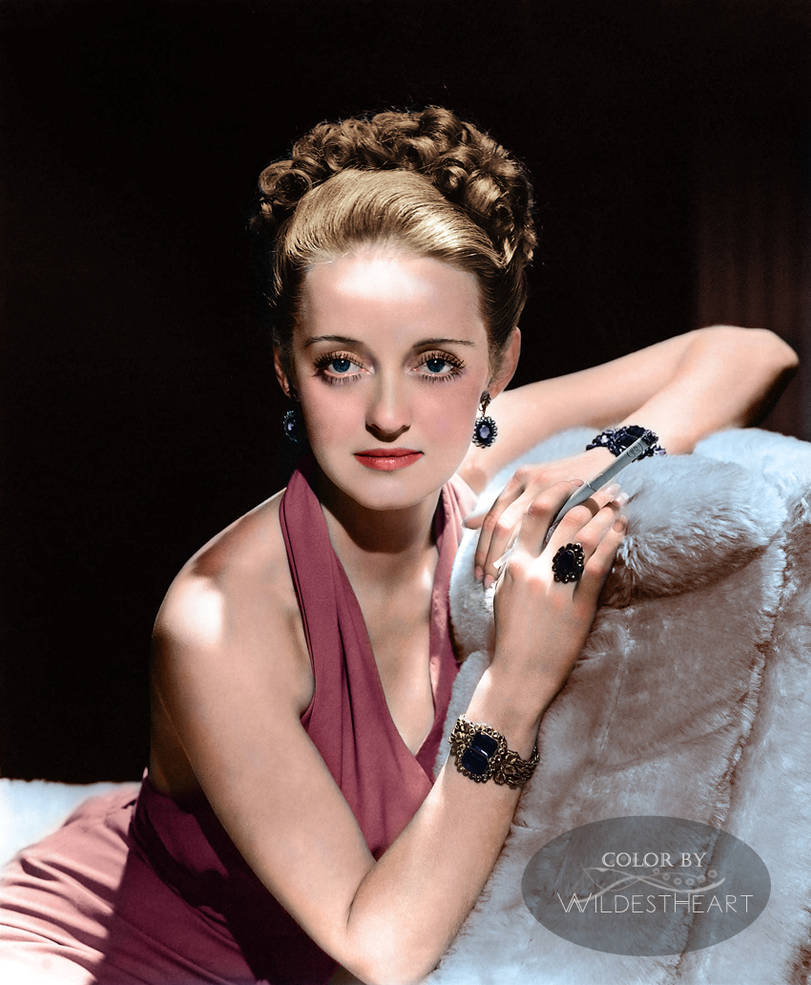 Bette Davis by George Hurrell 1938 colorized by xxwildestheartxx