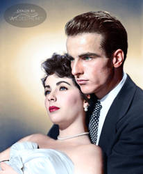 Elizabeth Taylor and Montgomery Clift 1951 by xxwildestheartxx
