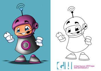 Rightel character design by ghazalehv