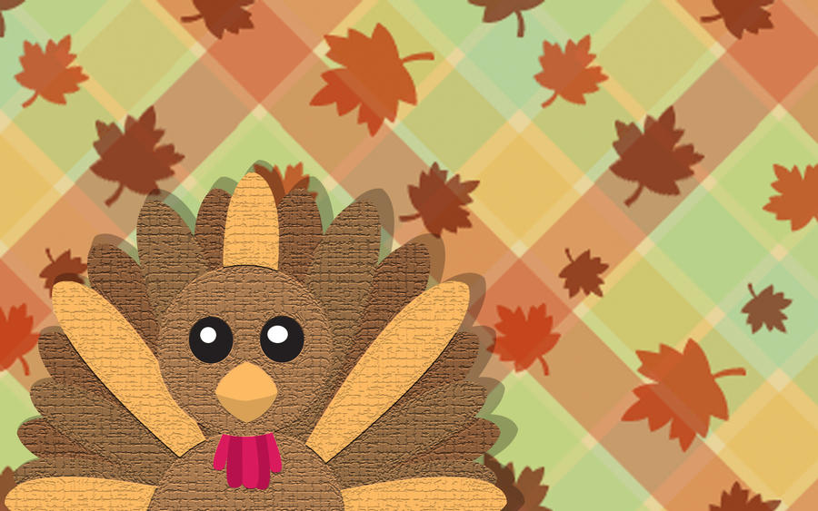 Turkey Day Wallpaper No-text by ladypixelheart