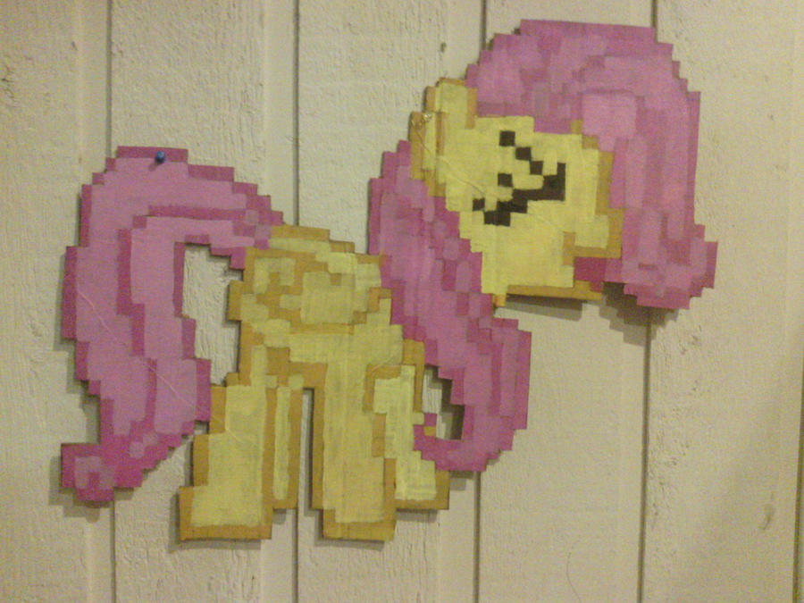 8-bit YAY Fluttershy Wall Decor by ladypixelheart on DeviantArt