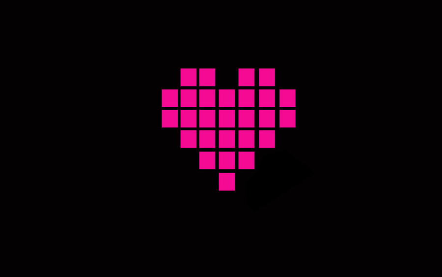 Pixel Heart Background by ladypixelheart