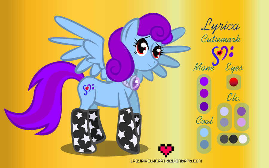 Lyrica Reference Sheet Commission by ladypixelheart