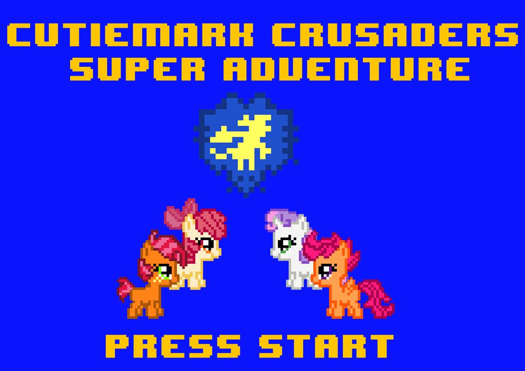 Cutiemark Crusaders Super Adventure Start Screen by ladypixelheart