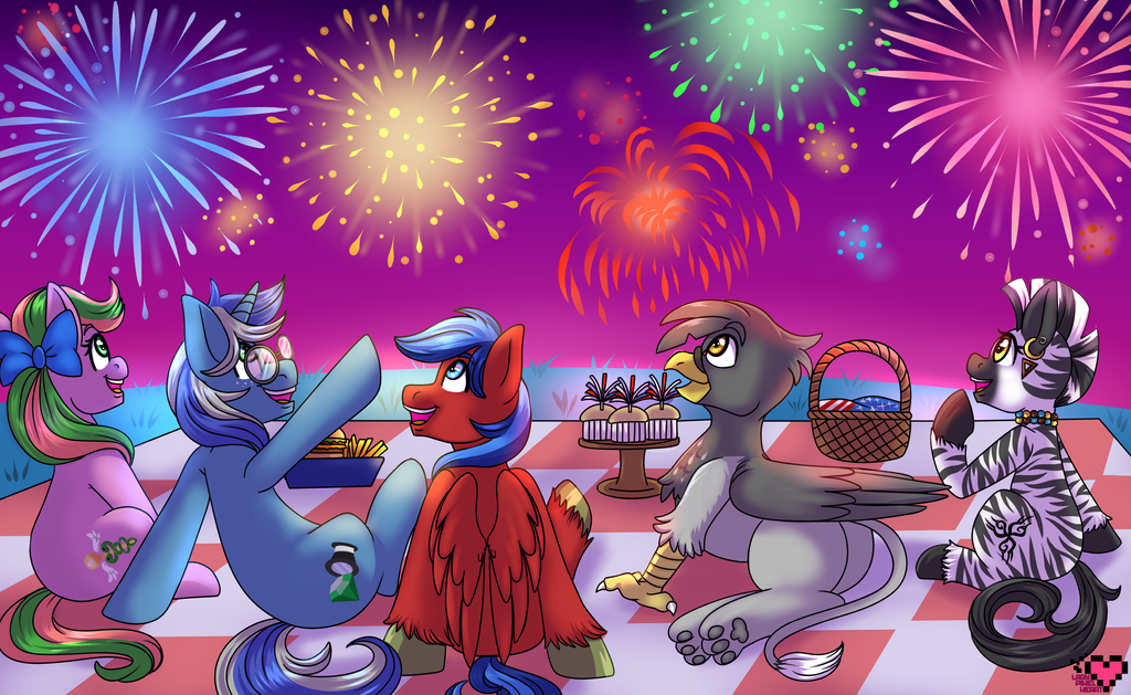 Summer Fireworks Commission by ladypixelheart