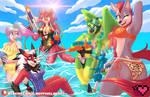 Summer 2020 Watergun Fight [YCH]