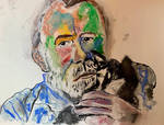 Hemingway With Cat by WilliamFeuer